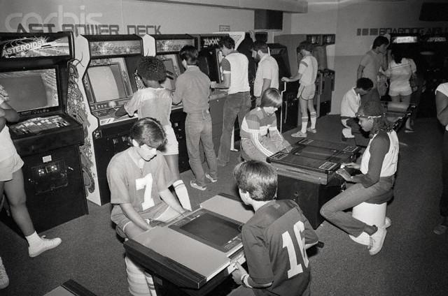 Kids in a Video Game Arcade