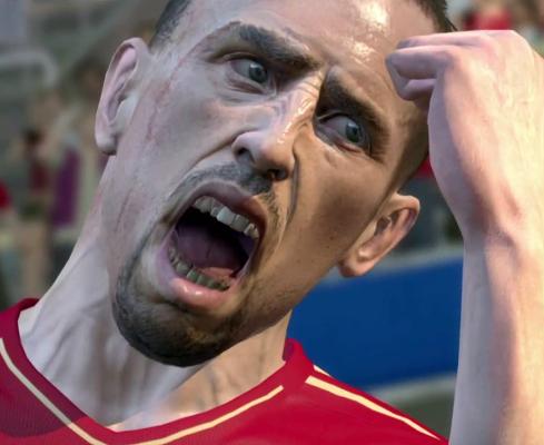 L'espressione di Frank Ribery di fronte all'esasperante lentezza del menù delle sostituzioni.