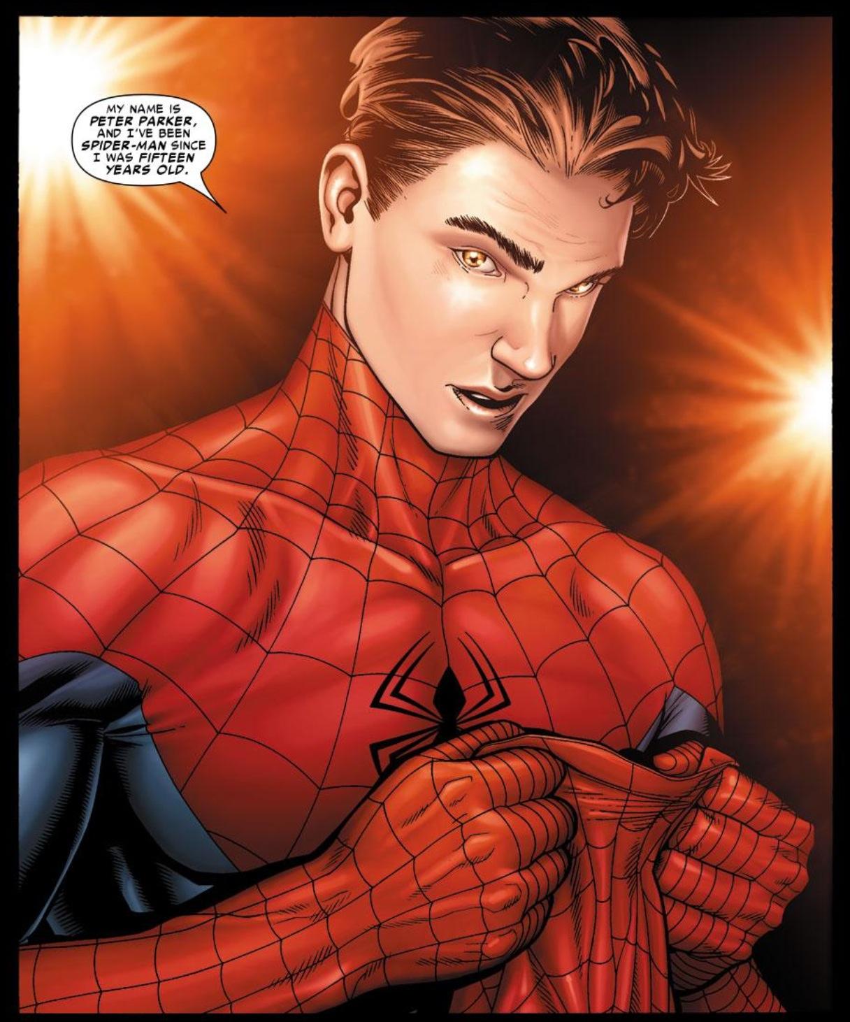Spider-man si toglie la maschera