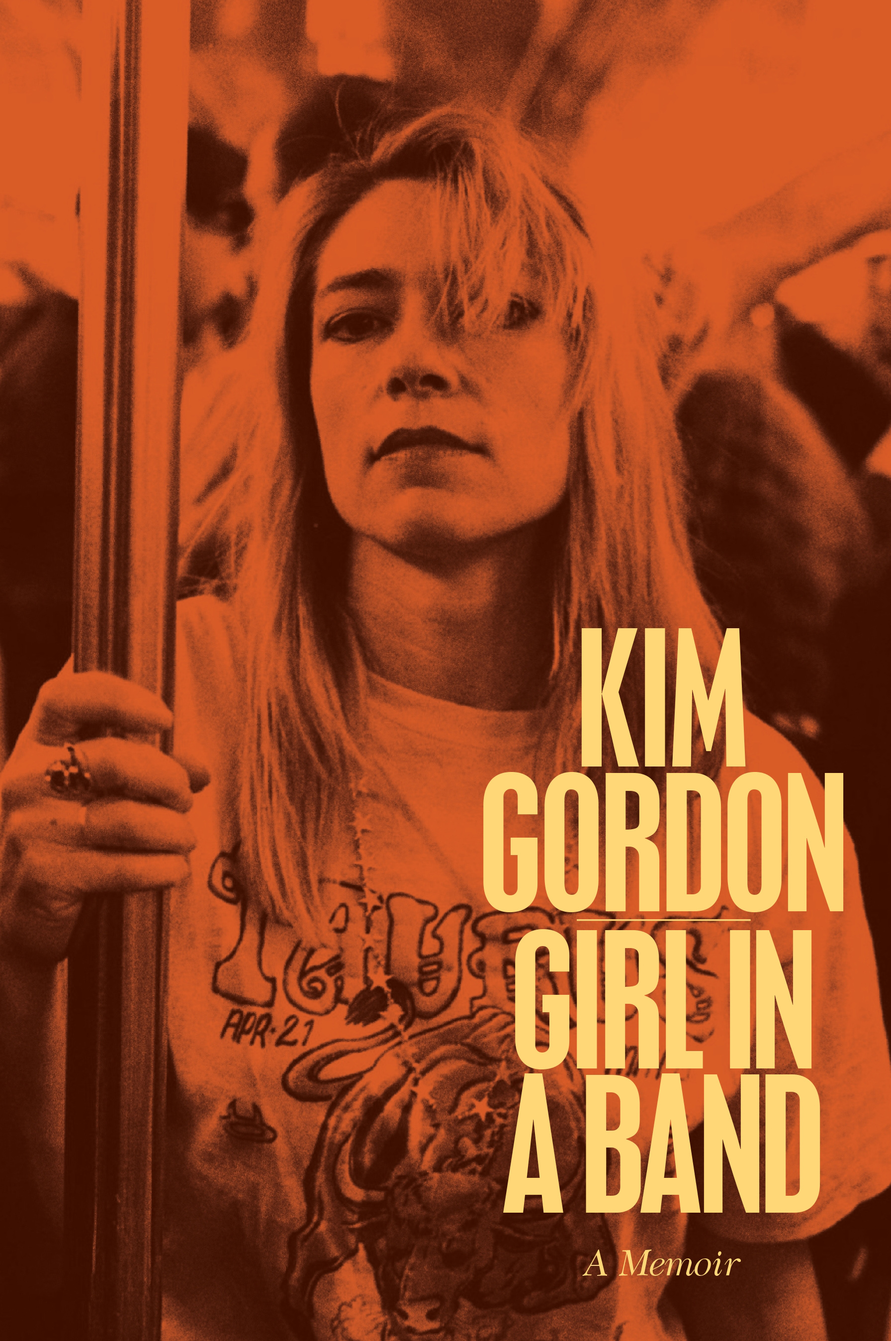 "This photo provided by Dey Street Books shows the cover of the book, ""Girl in a Band,"" (Dey Street Books), by author Kim Gordon. (AP Photo/Dey Street Books, Steve Double/Camera Press)"