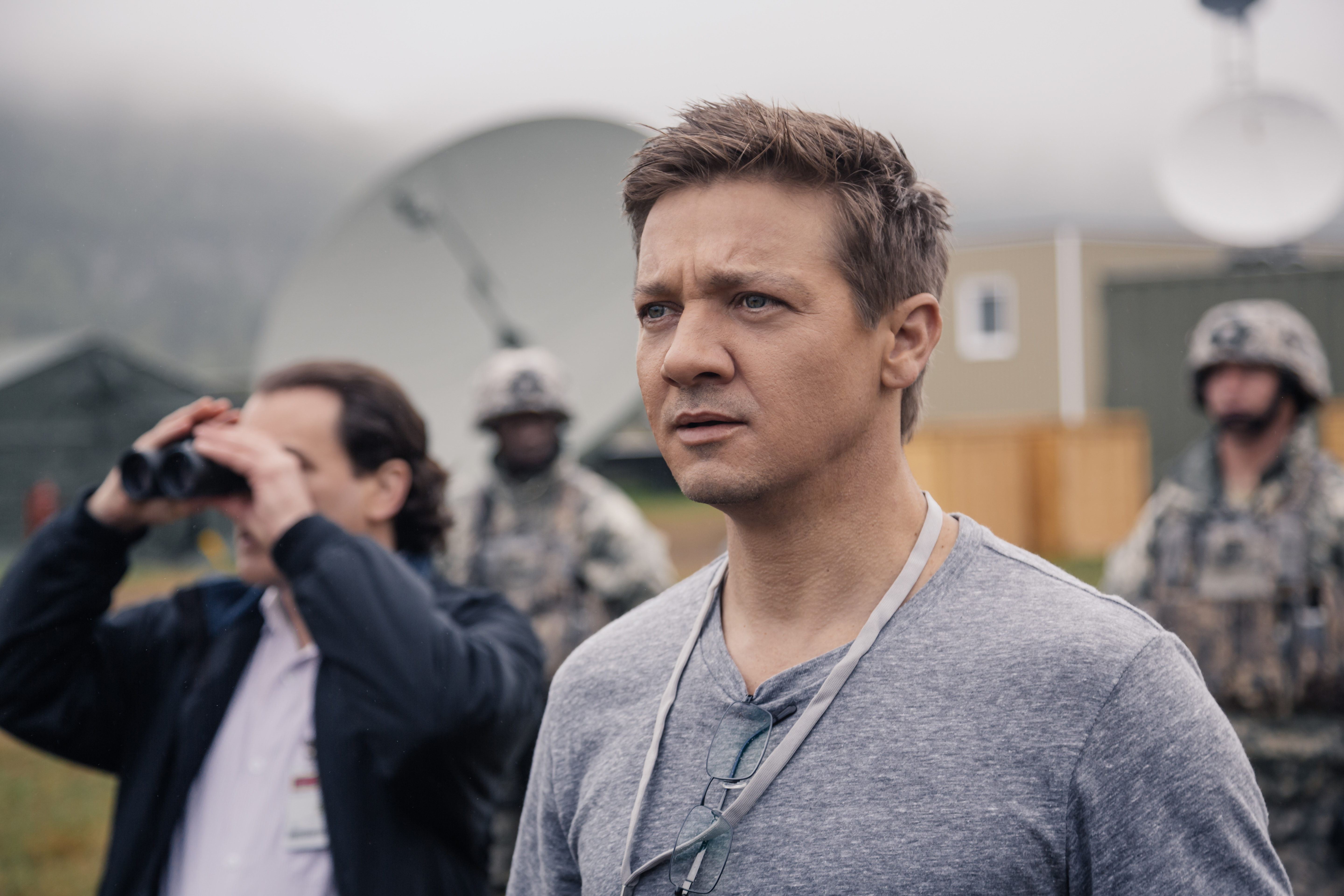 Jeremy Renner as Ian Donnelly in ARRIVAL by Paramount Pictures