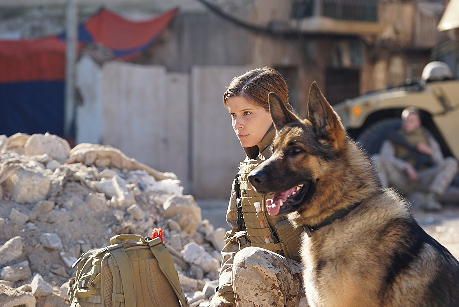 Netflix Movie Woman Soldier And Dog Rex